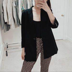 CAbi | Turner Ponte Collarless Knit Black Blazer